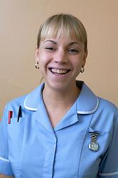 Student nurse smiling,