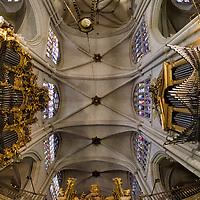 Techo de la Catedral de Toledo. Inside of Toledo Cathedral. Toledo. Spain