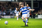 QPR (18) Jack Robinson  during the EFL Sky Bet Championship match between Queens Park Rangers and Fulham at the Loftus Road Stadium, London, England on 29 September 2017. Photo by Sebastian Frej.