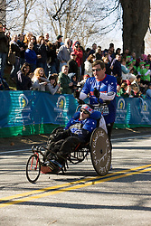 Team Hoyt, Dick,father and Rick,son, start race