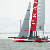 Luna Rosa Challenge during the Louis Vuitton Cup Round Robin 4.  Emirates Team New Zealand defeats Luna Rosa Challenge