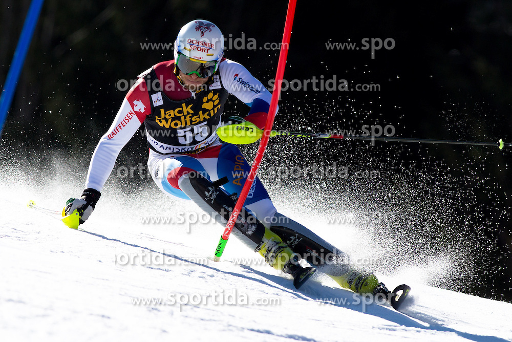 GINI Marc of Switzerland during the 1st Run of Men's Slalom - Pokal Vitranc 2014 of FIS Alpine Ski World Cup 2013/2014, on March 9, 2014 in Vitranc, Kranjska Gora, Slovenia. Photo by Matic Klansek Velej / Sportida
