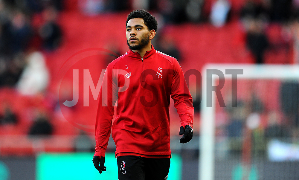 Jay Dasilva of Bristol City prior to kick-off-Mandatory by-line: Nizaam Jones/JMP - 18/01/2020 - FOOTBALL - Ashton Gate - Bristol, England - Bristol City v Barnsley - Sky Bet Championship