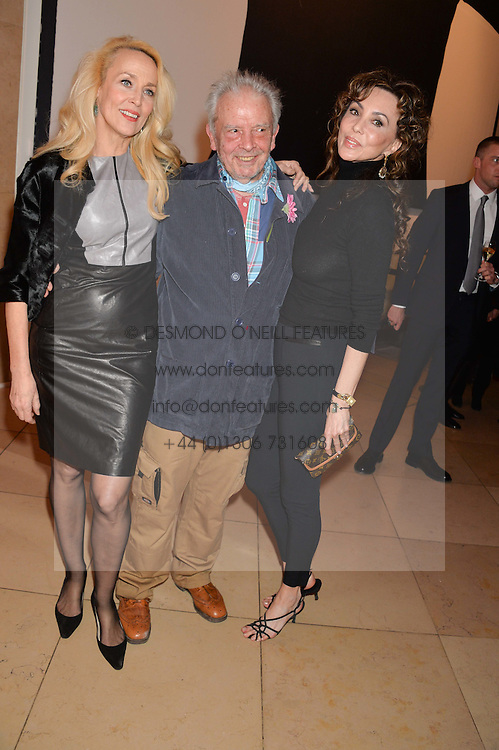 Left to right, JERRY HALL, DAVID BAILEY and MARIE HELVIN at a private view of photographs by David Bailey entitled 'Bailey's Stardust' at the National Portrait Gallery, St.Martin's Place, London on 3rd February 2014.