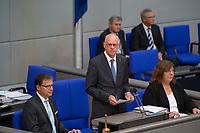 DEU, Deutschland, Germany, Berlin, 05.09.2017: Bundestagspräsident Prof. Dr. Norbert Lammert bei seiner letzten Rede im Deutschen Bundestag.