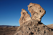 Rock sculpture in the Valley de la Luna in Chile's Atacama desert, next to Tres Marias