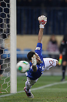 12.12.2012 SPAIN - Copa del Rey 12/13 Matchday 8th  match played between Atletico de Madrid vs Getafe C.F. (3-0) at Vicente Calderon stadium. The picture show Moya (Brazilian goalkeeper of Getafe)