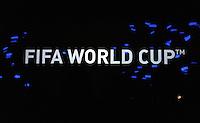 Fussball Nationalmannschaft :  Saison   2009/2010   10.11.2009 ADIDAS WM 2010 Trikot Vorstellung (Teamgeist) FIFA WORLD CUP , Schriftzug , LOGO