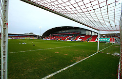A general view of Highbury Stadium, home to Fleetwood Town - Mandatory by-line: Robbie Stephenson/JMP - 02/04/2018 - FOOTBALL - Highbury Stadium - Fleetwood, England - Fleetwood Town v Bristol Rovers - Sky Bet League One