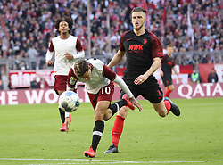 08.03.2020, Allianz Arena, Muenchen, GER, 1. FBL, FC Bayern Muenchen vs FC Augsburg, 25. Runde, im Bild Philippe Coutinho - Jeffry Gouweleeuw // during the German Bundesliga 25th round match between FC Bayern Muenchen and FC Augsburg at the Allianz Arena in Muenchen, Germany on 2020/03/08. EXPA Pictures © 2020, PhotoCredit: EXPA/ SM<br /> <br /> *****ATTENTION - OUT of GER*****