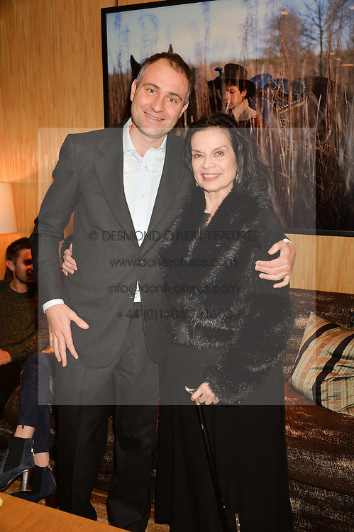 BEN GOLDSMITH and BIANCA JAGGER at the Louis Vuitton for Unicef Event #MAKEAPROMISE held at The Apartment, 17-20 New Bond Street, London on 14th January 2016.