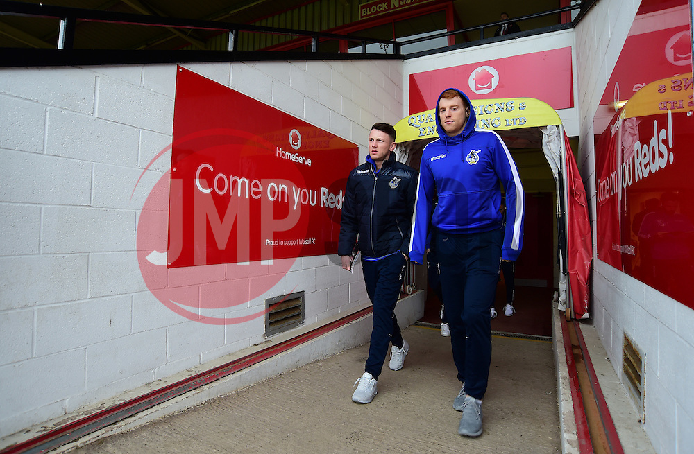 Rory Gaffney of Bristol Rovers and Ollie Clarke of Bristol Rovers arrive at the Bank's Stadium. - Mandatory by-line: Alex James/JMP - 21/01/2017 - FOOTBALL - Banks's Stadium - Walsall, England - Walsall v Bristol Rovers - Sky Bet League One