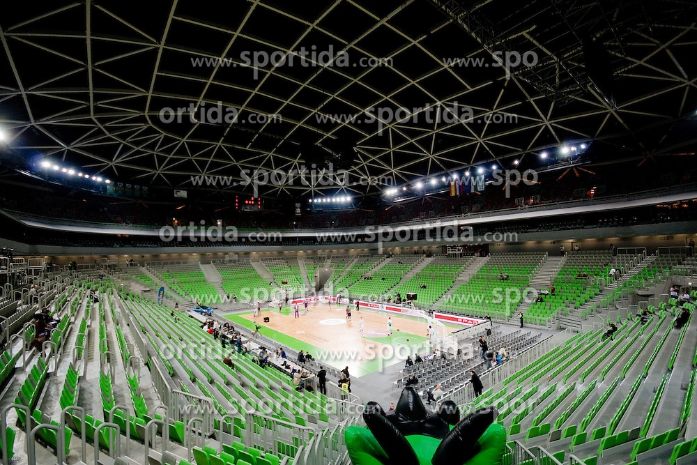 View on Arena Stozice before basketball match between KK Union Olimpija (SLO) and Power E. Valencia (SPA) in Group D of Turkish Airlines Euroleague, on November 17, 2010 in Arena Stozice, Ljubljana, Slovenia. (Photo By Matic Klansek Velej / Sportida.com)