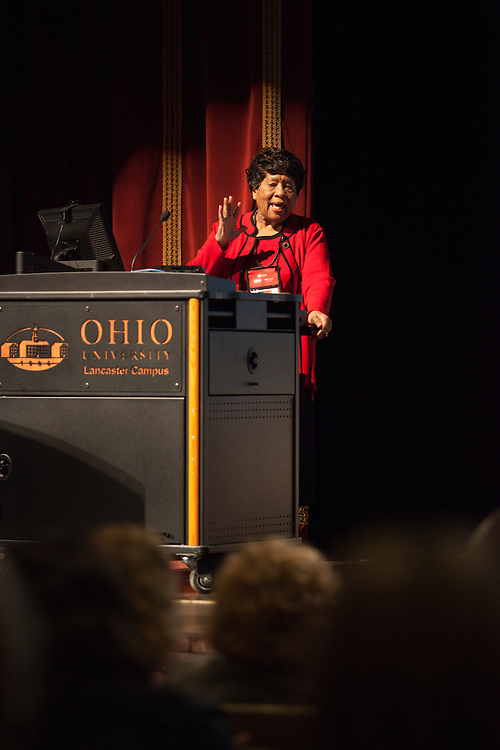 Dr. Joycelyn Elders, the the 15th surgeon general of the United States, gives her keynote speech at the 10th Annual Celebrate Women Conference at Ohio University Lancaster Campus on Friday, March 18, 2016. Photo by Kaitlin Owens