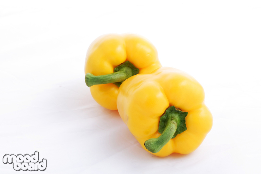 Yellow paprika on white background