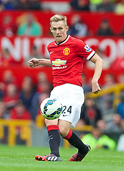 16.08.2014, Old Trafford, Manchester, ENG, Premier League, Manchester United vs Swansea City, 1. Runde, im Bild Manchester United's Darren Fletcher in action against Swansea City // 15054000 during the English Premier League 1st round match between Manchester United and Swansea City AFC at Old Trafford in Manchester, Great Britain on 2014/08/16. EXPA Pictures &copy; 2014, PhotoCredit: EXPA/ Propagandaphoto/ David Rawcliffe<br /> <br /> *****ATTENTION - OUT of ENG, GBR*****