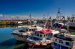 Fishing boats tied up in the harbour at Pittenweem, Fife.<br /> <br /> (c) Andrew Wilson   Edinburgh Elite media