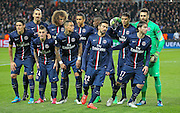 PSG players during the Champions League match between Paris Saint-Germain and Chelsea at Parc des Princes, Paris, France on 17 February 2015. Photo by Phil Duncan.