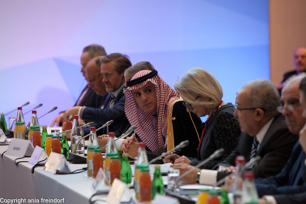 Middle East Peace Conference, Paris, France. International summit. 7O countries have participated in the summit. Adel Al Jubeir, Minister of Foreign Affairs of Saudi Arabia.
