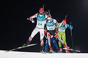 PYEONGCHANG-GUN, SOUTH KOREA - FEBRUARY 12: Andrejs Rastorgujevs of Latvia during the Mens Biathlon 12.5km Pursuit at Alpensia Biathlon Centre on February 12, 2018 in Pyeongchang-gun, South Korea. Photo by Nils Petter Nilsson/Ombrello               ***BETALBILD***