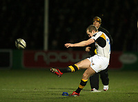 Photo: Rich Eaton.<br /> <br /> Worcester Rugby v London Wasps. Guinness Premiership. 26/01/2007. Dave Walder of Wasps successfully kicks an early penalty to gain a 3-0 lead