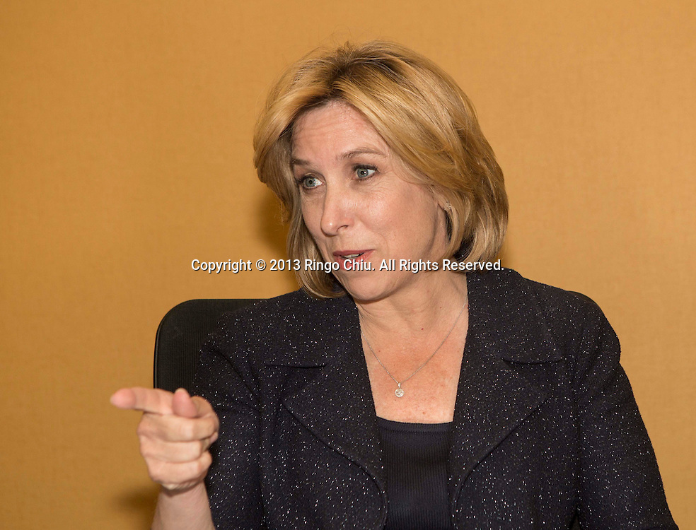 L.A. Mayoral candidate Wendy Greuel in interview.