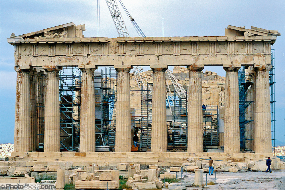 The Parthenon 447 438 Bc Marble Reconstruction Athens