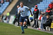 Coventry City forward Darius Henderson (44)  during the Sky Bet League 1 match between Coventry City and Swindon Town at the Ricoh Arena, Coventry, England on 19 March 2016. Photo by Simon Davies.