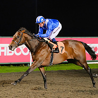 Jahbath and Jim Crowley winning The 'Road To The Kentucy Derby' Conditions Stakes.<br /> <br /> Kempton Park - 06.03.19<br /> focusonracing.com - John Hoy