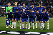 Chelsea FC before the Europa League quarter-final, leg 2 of 2 match between Chelsea and Slavia Prague at Stamford Bridge, London, England on 18 April 2019.