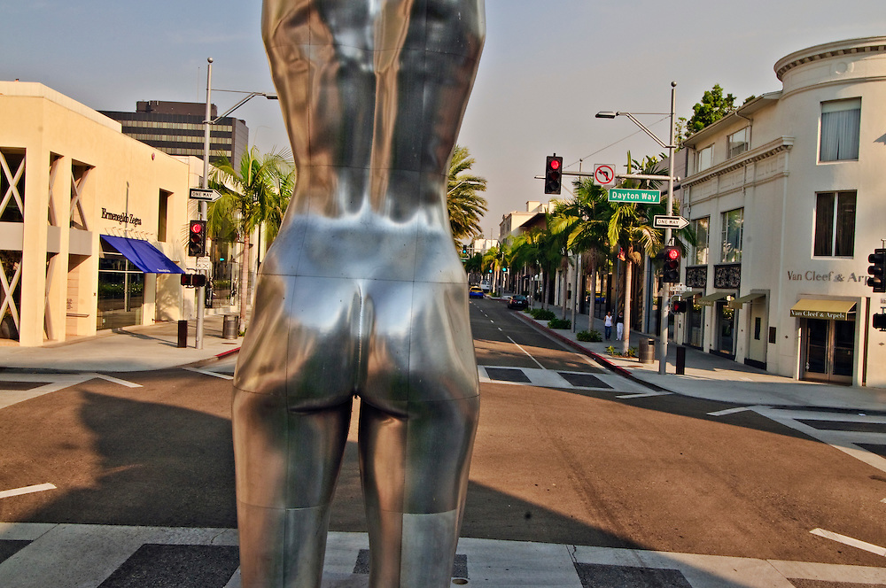 Statue, Female Torso, rear view, Rodeo Drive, Beverly Hills, Los Angeles, California, USA