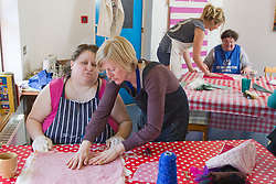 Felt making class for people with a visual impairment.