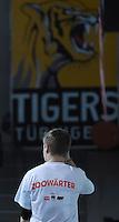Basketball  1. Bundesliga  2015/2016   Hauptrunde 22. Spieltag  13.02.2016 Walter Tigers Tuebingen -  ratiopharm Ulm Derby Motte der Ulmer Fans; Zoowaerter / Tiger in den Zoo!