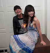 EMILY SONNET; DAISY LOWE; , The after-party after the premiere of Duncan WardÕs  film ÔBoogie WoogieÕ ( based on the book by Danny Moynihan). Westbury Hotel. Conduit St. London.  13 April 2010 *** Local Caption *** -DO NOT ARCHIVE-© Copyright Photograph by Dafydd Jones. 248 Clapham Rd. London SW9 0PZ. Tel 0207 820 0771. www.dafjones.com.<br /> EMILY SONNET; DAISY LOWE; , The after-party after the premiere of Duncan Ward's  film 'Boogie Woogie' ( based on the book by Danny Moynihan). Westbury Hotel. Conduit St. London.  13 April 2010