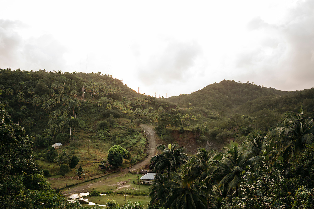 The landscape of the village near Taco Bay, Eastern Cuba on Jan. 27, 2016.