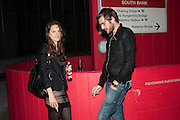 FRAN HICKMAN; OSCAR HUMPHRIES, Opening of Love is what you want. Exhibition of work by Tracey Emin. Hayward Gallery. Southbank Centre. London. 16 May 2011. <br /> <br />  , -DO NOT ARCHIVE-© Copyright Photograph by Dafydd Jones. 248 Clapham Rd. London SW9 0PZ. Tel 0207 820 0771. www.dafjones.com.