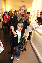 ANYA HINDMARSH and her son OTTO at a party to celebrate the opening of Pincess Marie-Chantal of Greece's store 'Marie-Chantal' 133A Sloane Street, London on 14th October 2008.