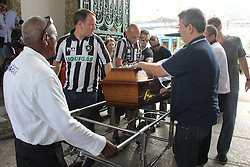 December 3, 2016 - Rio De Janeiro, Brazil - Body of journalist Guilherme Van Der Laars, from TV Globo, is buried in the São João Batista Cemetery, in Botafogo. He was one of the victims of the plane crash that would take the Chapecoense team to the final of the Copa Sudamericana in Colombia. The Lamia plane, which specializes in transporting football teams, crashed near the airport of destination and the first investigations realize that the fall was caused by lack of fuel. The case continues to be investigated by the Brazilian and Colombian authorities. This Saturday, Brazil was moved by the wake and the burial of dozens of athletes, journalists and members of the Chapecoense soccer team.   Rio de Janeiro, Brazil, December 03, 2016. (Credit Image: © Luiz Souza/NurPhoto via ZUMA Press)