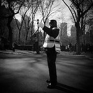 New york Fifth avenue, police traffic