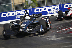July 15, 2018 - Toronto, Ontario, Canada - JORDAN KING (20) of England battles for position during the Honda Indy Toronto at Streets of Toronto in Toronto, Ontario. (Credit Image: © Justin R. Noe Asp Inc/ASP via ZUMA Wire)