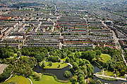 Nederland, Amsterdam, Amsterdam-West, 25-05-2010. Rembrandt park met Hoofdorppleinbuurt en De Baarsjes (Bos en Lommer, Oud-West). .Western part of the city..luchtfoto (toeslag), aerial photo (additional fee required).foto/photo Siebe Swart