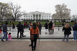 Tourists in front of the White House in Washington. From a series of travel photos in the United States. Photo date: Thursday, March 29, 2018. Photo credit should read: Richard Gray/EMPICS