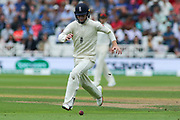 Ollie Pope of England chases the ball during the 3rd International Test Match 2018 match between England and India at Trent Bridge, West Bridgford, United Kingdon on 18 August 2018.