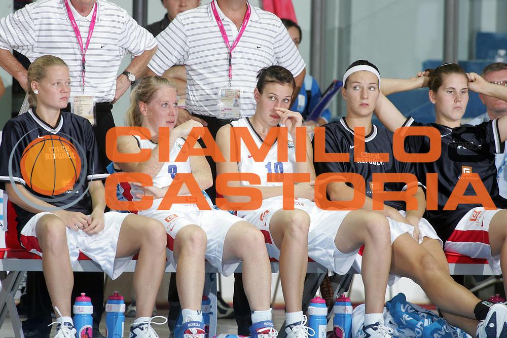 DESCRIZIONE : Chieti Italy Italia Eurobasket Women 2007 <br /> Quarti di finale Repubblica Ceca Bielorussia Czech Republic Belarus<br /> GIOCATORE : Michaela Uhrova Edita Sujanova<br /> SQUADRA : Repubblica Ceca Czech Republic <br /> EVENTO : Eurobasket Women 2007 Campionati Europei Donne 2007 <br /> GARA : Repubblica Ceca Bielorussia Czech Republic Belarus<br /> DATA : 04/10/2007 <br /> CATEGORIA : delusione<br /> SPORT : Pallacanestro <br /> AUTORE : Agenzia Ciamillo-Castoria/E.Castoria<br /> Galleria : Eurobasket Women 2007 <br /> Fotonotizia : Chieti Italy Italia Eurobasket Women 2007 Quarti di finale Repubblica Ceca Bielorussia Czech Republic Belarus<br /> Predefinita :