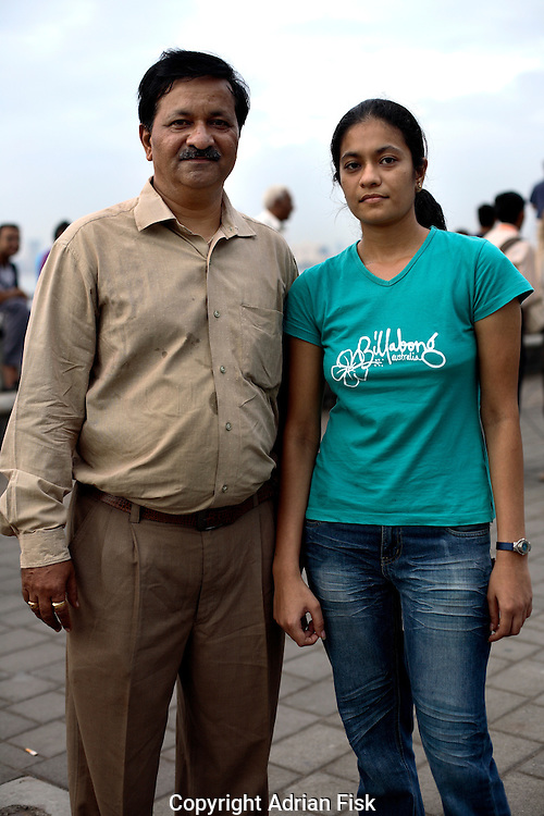 Father Atul Joshi and daughter Mansi Joshi by the Oberoi hotel