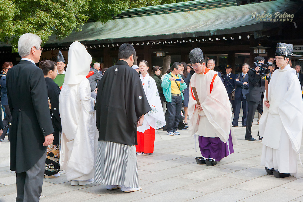 Shinto wedding at the Meiji Shrine, Tokyo