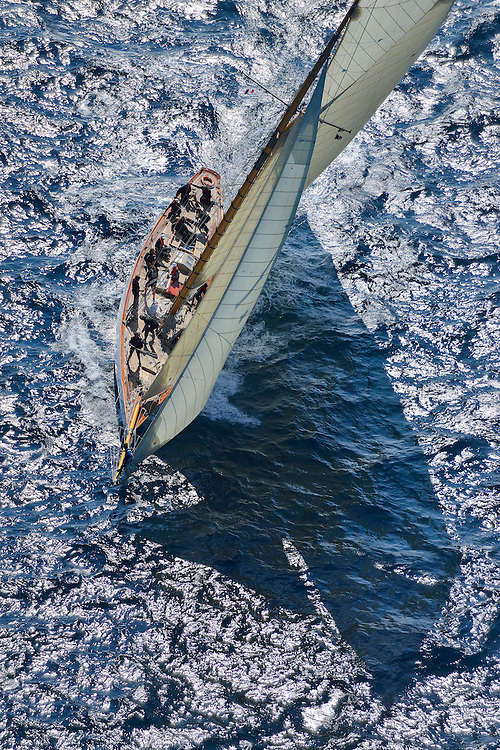 France Saint - Tropez October 2013, Classic yachts racing at the Voiles de Saint - Tropez<br /> <br /> C,D1,MARISKA,&quot;27,75&quot;,15MJI AURIQUE/1908,WILLIAM FIFE