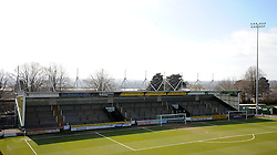 General view of Huish Park prior to kick off - Photo mandatory by-line: Harry Trump/JMP - Mobile: 07966 386802 - 07/03/15 - SPORT - Football - Sky Bet League One - Yeovil Town v Oldham Athletic - Huish Park, Yeovil, England.