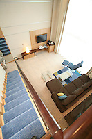 The launch of Royal Caribbean International's Oasis of the Seas, the worlds largest cruise ship..Staterooms.Sky Loft suite