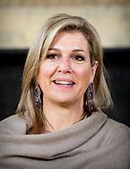 21-6-2018 THE HAGUE - Queen Maxima speaks Thursday morning, June 21 at the symposium on the occasion of the 10-year jubilee of the platform Wiser in Money in the Ridderzaal in The Hague. Together with Finance Minister Wopke Hoekstra and other attendees, she looks back on the platform's efforts over the past ten years and looks ahead to how the financial sustainability of people can be further increased in the future. ROBIN UTRECHT<br /> <br /> 21-6-2018 DEN HAAG - Koningin Maxima spreekt donderdagochtend 21 juni op het symposium ter gelegenheid van het 10-jarig jubileum van het platform Wijzer in geldzaken in de Ridderzaal in Den Haag. Samen met minister van Financiën Wopke Hoekstra en andere aanwezigen blikt zij terug op de inspanningen van het platform de afgelopen tien jaar en kijkt ze vooruit naar hoe de financiële redzaamheid van mensen in de toekomst nog verder kan worden vergroot. ROBIN UTRECHT